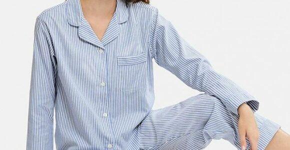 2.piyama Lengan Panjang Motif Garis Garis Yang Dewasa Dan Simpel