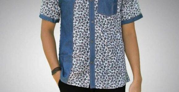 Baju Batik Pria Abstrak Modern